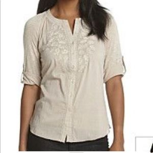 VINTAGE AMERICA Laelia Embroidered Top NWT in 1X